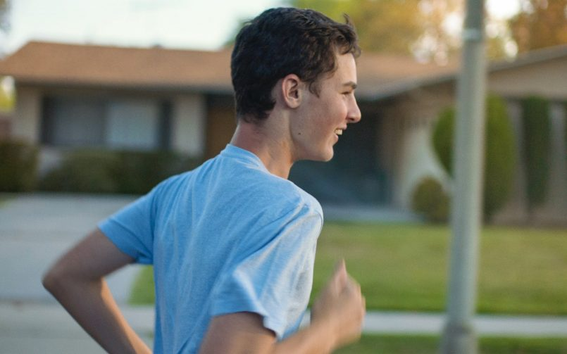young dementia sufferer running with joy